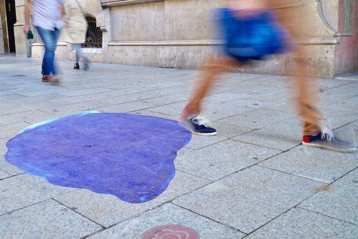 Bubble en el suelo de Barcelona