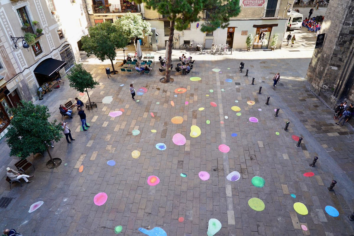 Bubbles de colores en Barcelona