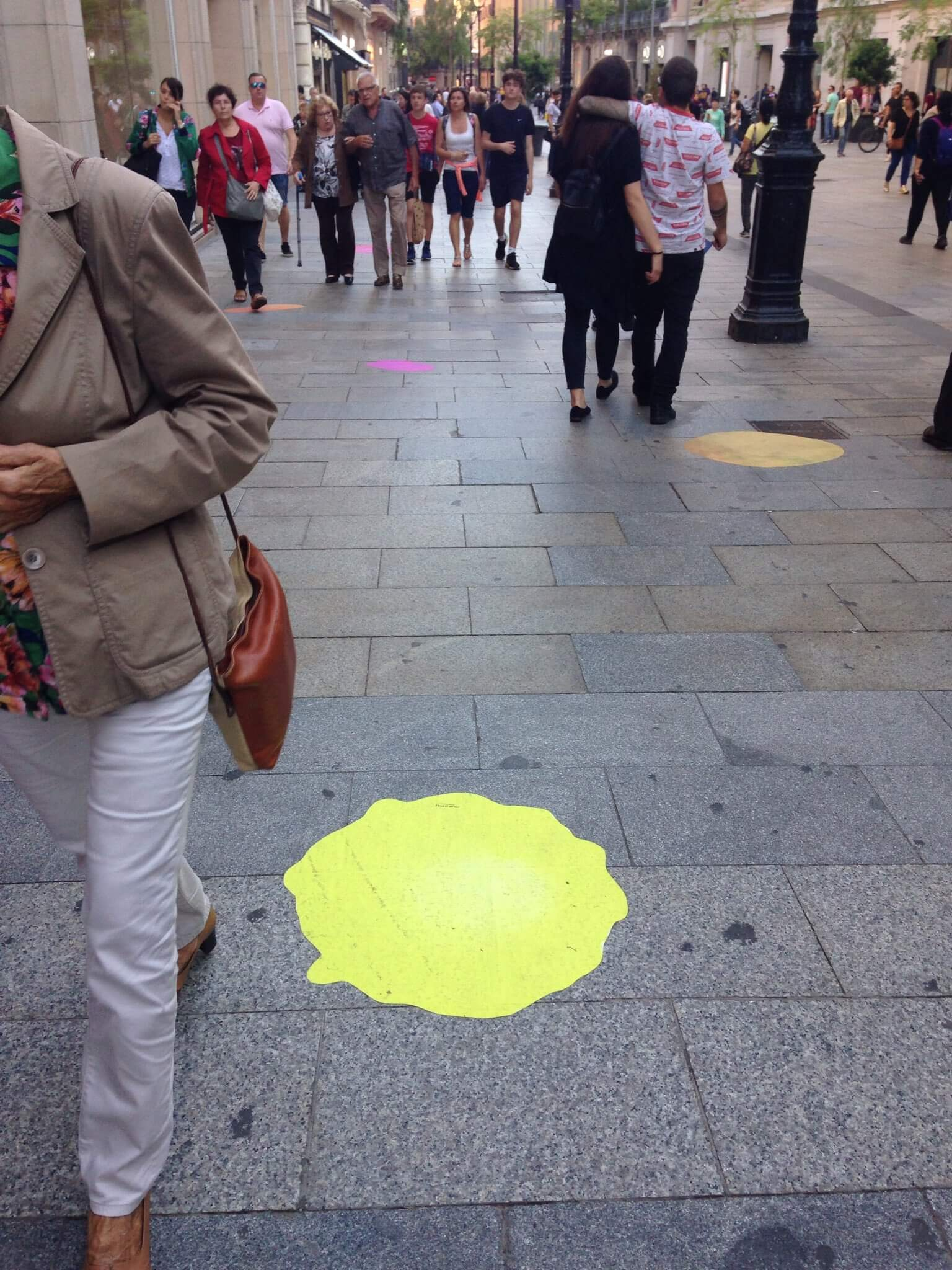 Bubbles de colores en Barcelona