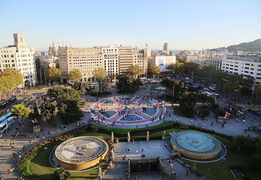 Bubbles en Plaça Catalunya